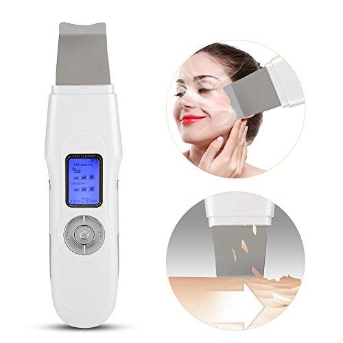 Spatule faciale Cleane, EMS Ion Vibrations à haute fréquence Nettoyant du visage Peeling de la peau Pores du visage Nettoyage en profondeur Élimination des cuticules Gommage