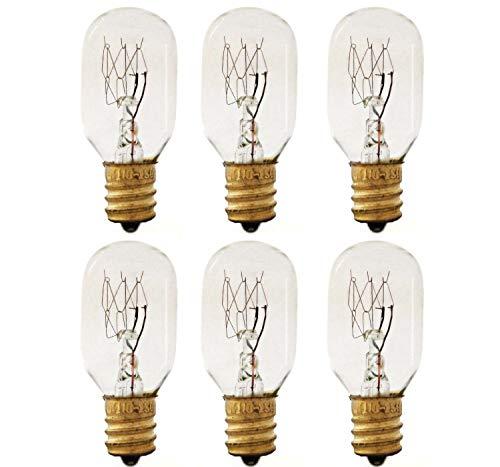 Sterl Lighting – 15 Watt Bulb T7 Appliance, E12 Candelabra Base 2.04 Inch 90Lm Tubular Salt Lamp and Wax Warmer 120V 15W Light Bulb Incandescent 2700K Warm White Clear – 6 Pack