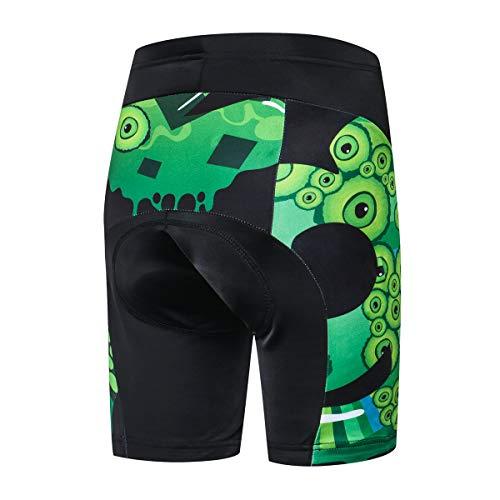 Jpojpo Fahrrad-Shorts für Kinder, kurze Hose, 4D-Gel-gepolsterte Fahrradhose S Buchstabe