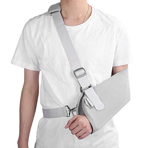 Eslinga de brazo para adulto, inmovilizador de hombro transpirable, correa de soporte médico para brazo fracturado roto, codo, muñeca con tabla fija