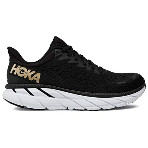 HOKA ONE ONE Women's Clifton 7 Running Shoe (Black/Bronze