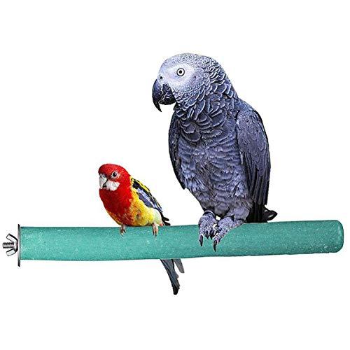 POPETPOP Perca de Loro Loro de Madera Garras de Molienda Palo Soporte de Molienda de Pájaros Juguete de Escalada Duradero Soporte de Entrenamiento de Loros Palo de Molienda de Aves (Color Rabdom)