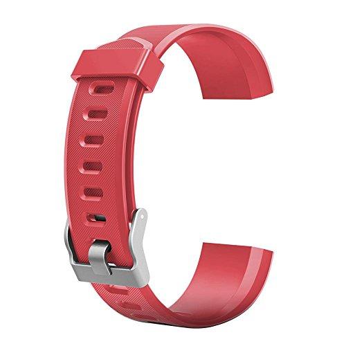 VDYXEW Farbiges Armband, Ersatz-Zubehör für ID115Plus HR-Smart-Watch, grün, 180.00*100.00*20.00 (rot)