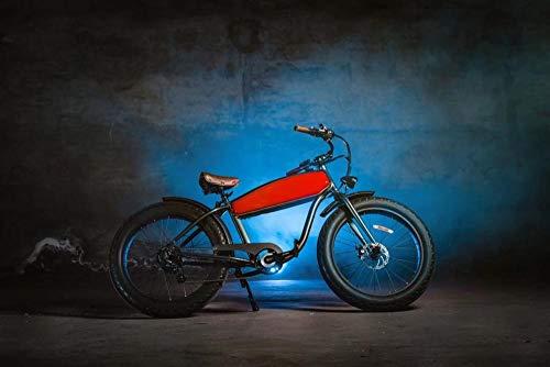 Wxlyy Retro Playa Nieve vehículo eléctrico neumático súper Ancho Bicicleta de montaña Lado Externo Cubo Lado eléctrico-Rojo