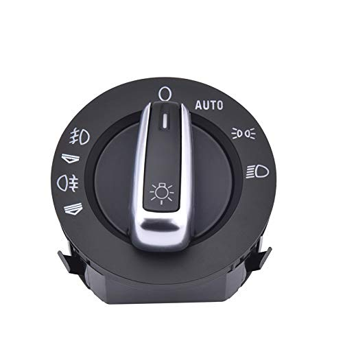 Lfldmj Chorme Interruptor de Faro Contorl Faro antiniebla Contorl, para Audi A6 S6 C6 RS6 Allroad, para Q7 4FD941531A 4F1941531E