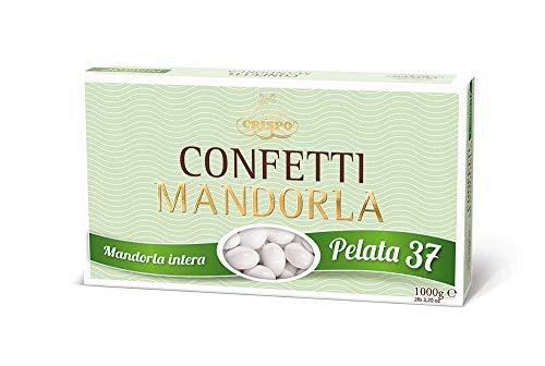 Crispo Confetti alla Mandorla Gran Lusso - Colore Bianco - 3 confezioni da 1 kg [3 kg]