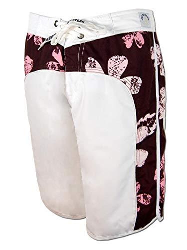 SEESTERN Damen Boardshorts Surfshorts Boardshort Surf Short Bade Shorts XS-XXXL /1723 Weiss M