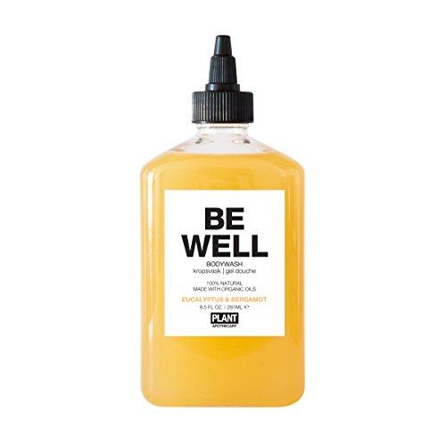 PLANT Apothecary Be Well Botanical Aromatherapy Body Wash - USDA Organic Eucalyptus & Bergamot Essential Oils - For Unisex - 9.5 oz Body Wash
