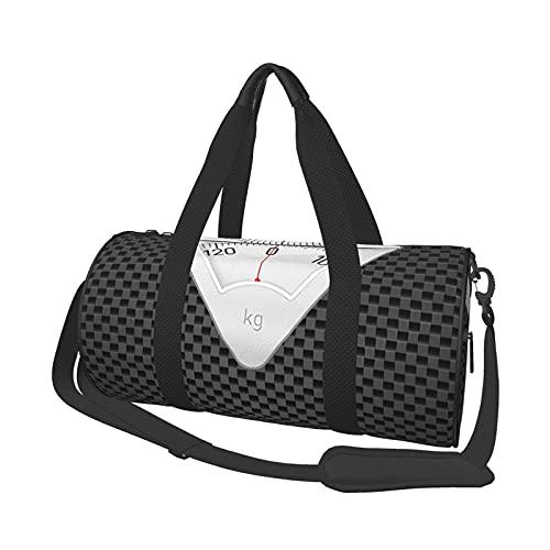 Bolsa de deporte para gimnasio, báscula de baño, redonda, bolsa de viaje, ligera, con compartimento para zapatos y bolsillo húmedo para mujeres o hombres