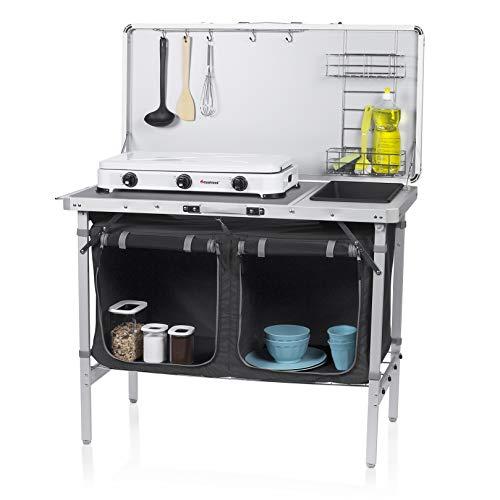 CAMPART Outdoor Küche Granada Campingküche, white/Black, 100 x 50 x 76 cm
