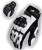 YUW Guanti da Moto,Touch Screen Finger Moto Completa per Moto Ciclismo Arrampicata Escursionismo Caccia Outdoor Sports Gear Guanti,Bianca,XL
