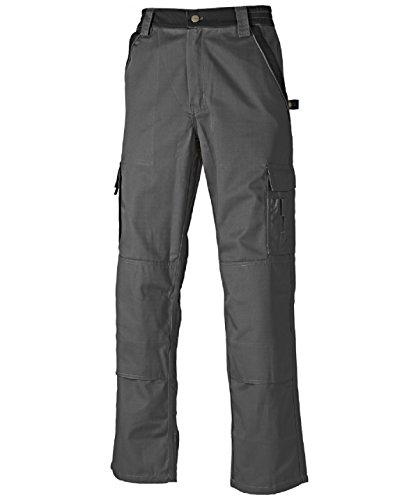 Dickies Arbeitshose,Robuste Industry-Serie,300g/m Größen, Bundhose aus 65% Polyester/35% Baumwolle (102, Grau/Schwarz)