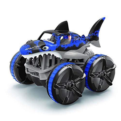 Lowral 2.4G impermeable, control remoto de tierra de hierba anfibia, conducción Shark Light RC Car