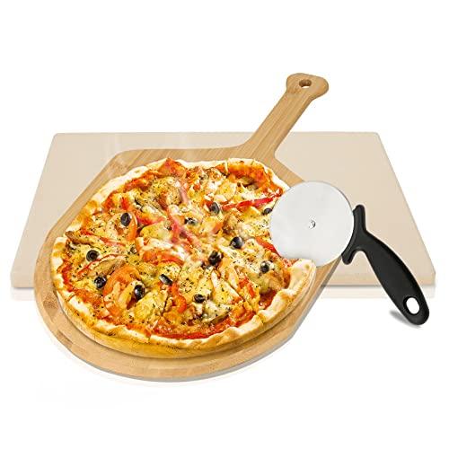 Lospitch Pizzastein aus Cordierit für...