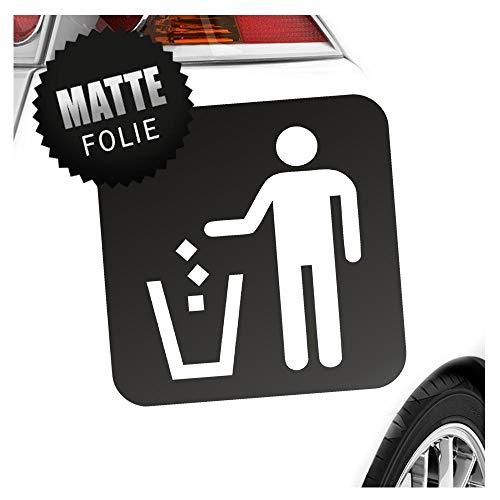 Kiwistar Mülleimer Entsorgung Piktogramme Aufkleber Sticker 25 Farben Neon Matt