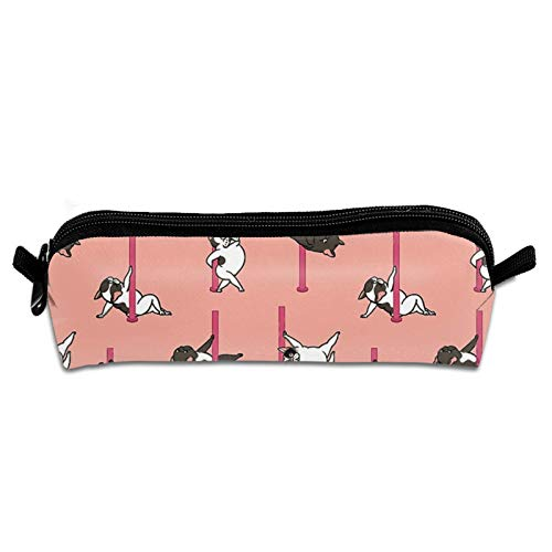 French Bulldog Pencil Case Holder Zipper Pen Bag Pouch Students Stationery Cosmetic Bag Study Supplies