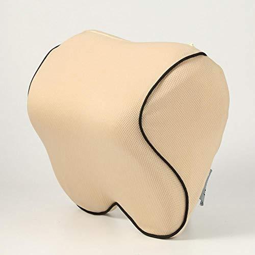 XLTWKK Almohadilla de sujeción de la Almohada del Cuello del reposacabezas del automóvil para Almohada de Coche de Fibra sintética de poliéster de Memoria del Conductor