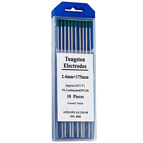 Herramientas electrónicas, Tungsteno Rod TIG Soldadura Electrodos de Tungsteno Varilla Verde Electrodos No Radioactivos