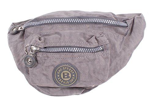sac banane sac de taille pochette sac à main bourse avec bretelle réglable gris
