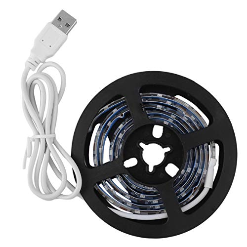 Funnyrunstore 100CM DC5V USB Fuente de alimentación impermeable LED tira de luz SMD3528 Vacaciones decorativo TV fondo de pantalla tira de luz (Color: verde; Tipo: resistente al agua)