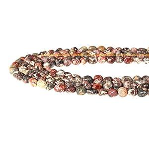 "StarEidolon 100% Natural Stone Gemstone Irregular Nugget Chips Beads Semi 6-8mm Beads Crystal Energy Necklace Bracelet DIY Healing Power Stone for Jewelry Making 1 Strand 15"" (Leopard Skin Jasper)"