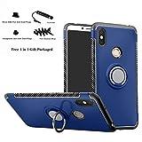 Labanema Xiaomi Redmi S2 Funda, 360 Rotating Ring Grip Stand Holder Capa TPU + PC Shockproof Anti-rasguños teléfono Caso protección Cáscara Cover para Xiaomi Redmi S2 (Redmi Y2) - Azul