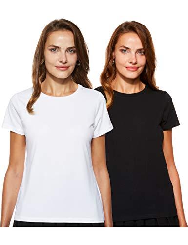 Amazon Brand - Symbol Women's Solid Regular Fit Half Sleeve...