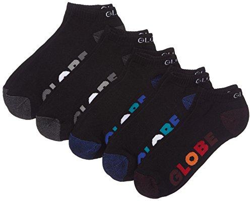 Globe Multi Stripe Ankle Sock 5 Pack, Black, 7/11