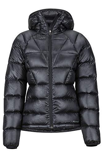 Marmot Wm's Hype Down Hoody Veste en Duvet Isolée Ultra-Légère, Facteur de Gonflement de 800, Veste d'extérieur, Anorak déperlant, Coupe-Vent Femme Black FR: S (Taille Fabricant: S)