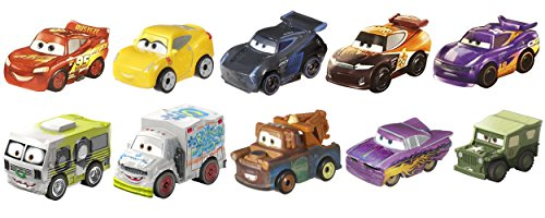 Product Image of the Disney Pixar Cars: Micro Racers Vehicle, 10 Pack [Amazon Exclusive]