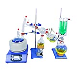 HNZXIB 2L Short Path Distillation Kit Cold Trap and Stirring Heating Mantle for Distillation Extraction