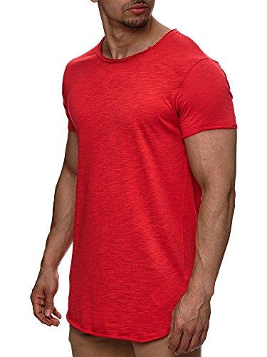 Indicode Herren Willbur Tee T-Shirt mit Rundhals-Ausschnitt aus 100{f571d85c7e1aa52df38154d8ad68ad75a16797a834492082086d8394d73df8a6} Baumwolle | Regular Fit Kurzarm Shirt einfarbig od. Kontrast Markenshirt in 30 Farben S-3XL für Männer Eoji Berry M