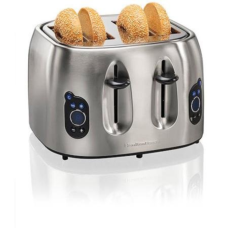 Hamilton Beach Brands 697046430306 Hamilton Beach 24702 Digital 4-slice Toaster, Brushed Stainless
