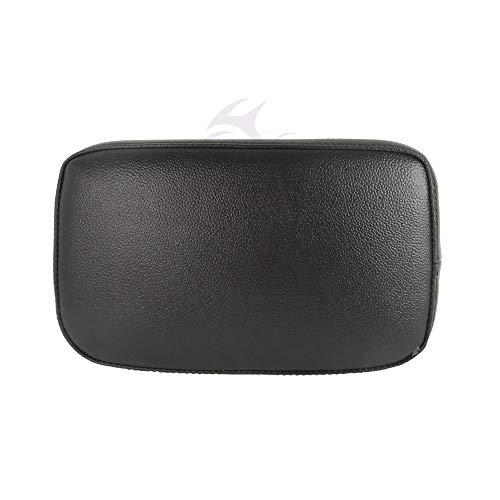 Artsy Gift- Black Sissy Bar Passenger Backrest Pad W/ 6 Sucker Removable For Harley Cruiser