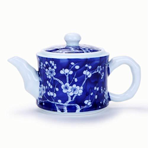 SXCYU Tetera de Porcelana Azul y Blanca Juegos de té de cerámica Kung Fu Jingdezhen Teteras Vintage Tetera Servicio de té, B