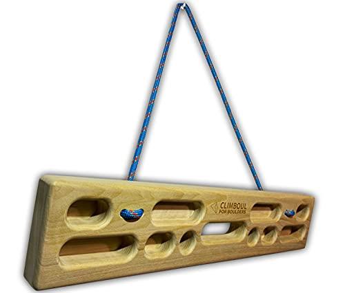 CLIMBOUL ® - Hangboard Fabricada en España + Cepillo, Tabla Entrenamiento Exterior Escalada | Multipresa para Calentar para Todos los Niveles