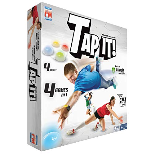 Fotorama Tap It Wireless Ultra High-Tech Pod Game, 4 Fun Games in One, Develop Hand-Eye Coordination, Agility, and Memory, Up to 8 Players, for Ages 6 and Up