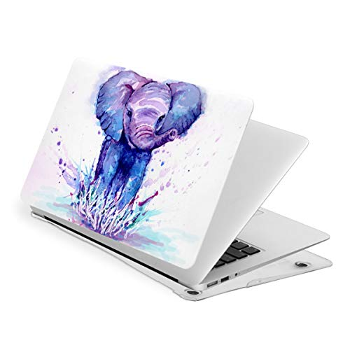 Watercolor Elephant Case for MacBook Air 13 Inch A1932 (2020 2019 2018 Release) - Protective Snap On Hard Shell Cover for New MacBook Air 13 Retina