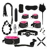 QYXJJ NoQYJ Erwachsener Spaß 13pcs / Set Bettspiel Spiel Nylon Binding Leder Spiele Spielzeug Kits for Paar Männer und Frauen (Color : Pink-a, Size : 1)