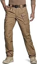 CQR Men's Tactical Pants, Water Repellent Ripstop Cargo Pants, Lightweight EDC Hiking Work Pants, Outdoor Apparel, Duratex Mag Pocket Coyote, 34W x 32L