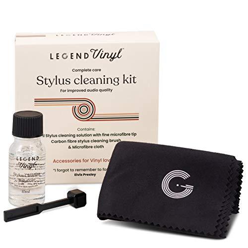Kit de limpieza de lápiz óptico, cepillo de fibra de carbono, líquido de limpieza con cepillo de microfibra, paño de microfibra grande para limpieza de registros
