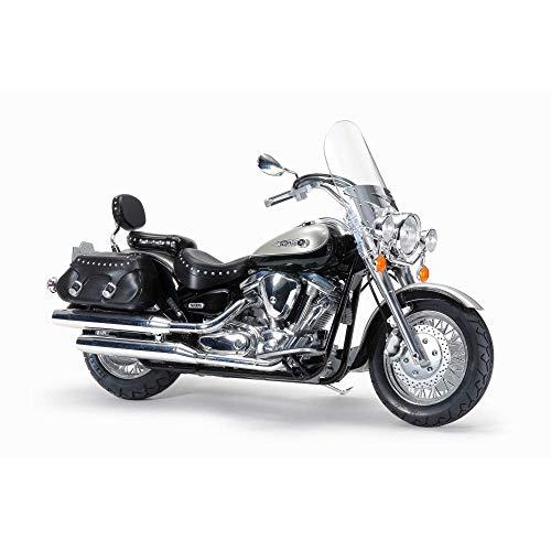 TAMIYA 300014135 1:12 Yamaha XV1600 Roadstar Custom, originalgetreue Nachbildung, Modellbau, Plastik Bausatz, Basteln, Hobby, Kleben, Plastikbausatz, Zusammenbauen, unlackiert