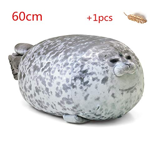 Creamon Meerestier Kissen, Meerestier Kissen Blob Seal Kissen süße Dichtung Stofftier Baumwolle Plüschtier Kissen 001#