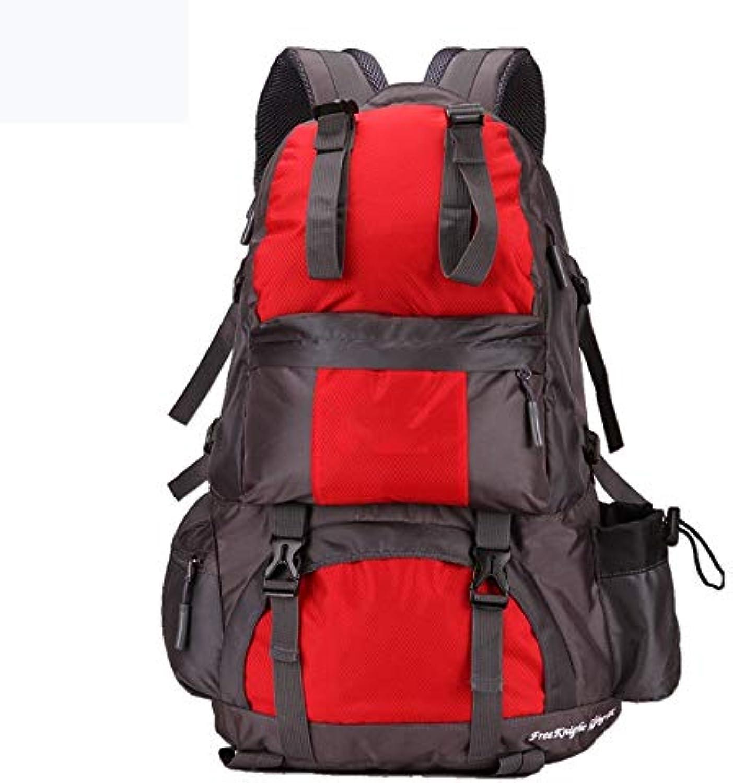 JKLSNMA Wanderschuhe 50L Sporttasche Polyester Wasserdicht Camping Tasche Rucksack Rucksack Für Bergsteigen Wandern Camping Reisetasche