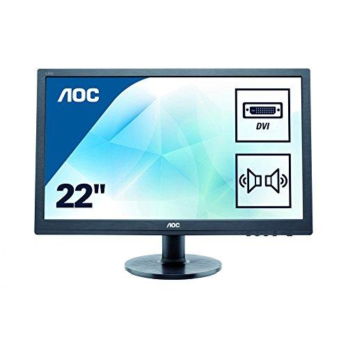 AOC E2260SDA 55,9 cm (22 Zoll) Monitor (VGA, DVI, 1680 x 1050, 60 Hz) schwarz