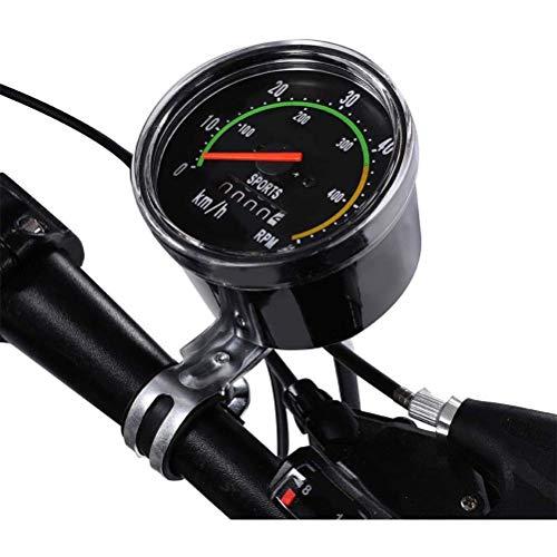 Phayee Fahrrad universal mechanische Stoppuhr, kabelloser Fahrradtacho, mit LCD-Display, Fahrrad-Tachometer, kabelloser Fahrradtacho, wasserdicht, schwarz
