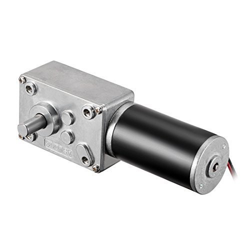 50RPM Pangding Worm Gear Motor High Torsion Speed Reduce Electric Gearbox Reversible Motor 8mm Shaft 24V