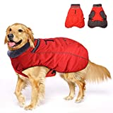 Winter Coats for Dogs with Bag,Thickened Reflective Windproof Waterproof Design Dog Cold Life Jacket Fleece Vest Apparel for Small Medium Large Pet Dog