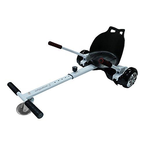 SmartGyro Go-Kart PRO White, Supporto Adattabile per Monopattino Elettrico Hoverboard, Taglia Unica, Unisex Adulto Sport e Tempo Libero, Bianco, X/XL