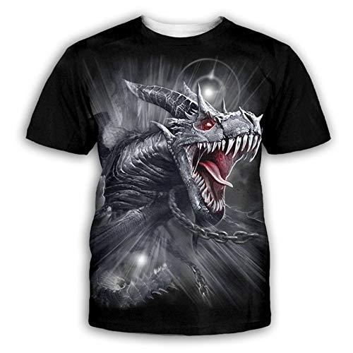 SSBZYES Camisetas para Hombre Camisetas De Manga Corta para Hombre Camisetas Estampadas En 3D con Estampado Animal De Verano Camisetas Cuello Redondo De Manga Corta para Hombre Tops Finos